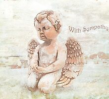 """The Littlest Angel """"With Sympathy"""" ~ Greeting Card by Susan Werby"""