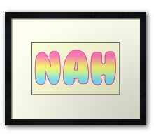 Rainbow Nah Bubble Framed Print