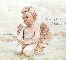 """The Littlest Angel """"Sorry For Your Loss"""" ~ Greeting Card by Susan Werby"""