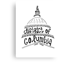 Hipster District of Columbia Outline Canvas Print