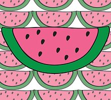 Not So Seedless Watermelon Pattern Portrait Collage by ouradventure