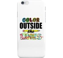 Color Outside The Lines iPhone Case/Skin