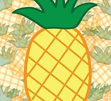 Pineapple Collage Portrait by ouradventure