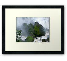 Under The Falls Framed Print