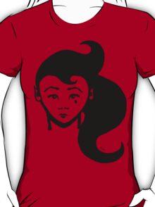 Lady Sorrow : T-shirt illustration / design - inspired by stencil / street art. T-Shirt