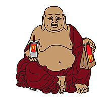 Fat Buddah Photographic Print
