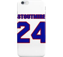 National football player Omar Stoutmire jersey 24 iPhone Case/Skin