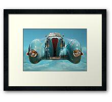 Vintage Sky Car Framed Print
