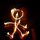 Firey Stickman by Phil Rowe