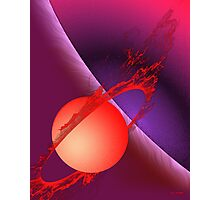 Fiery Planet Photographic Print