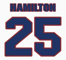 National football player Justin Hamilton jersey 25 by imsport