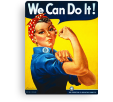 Rosie the Riveter - Recruitment  Poster Canvas Print