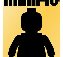 Retro Large Black Minifig by ChilleeW