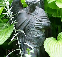 St. Michael Among Hosta by jenndes