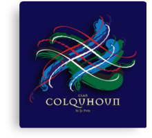 Colquhoun Tartan Twist Canvas Print