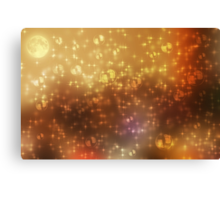 Universe abstract yellow background Canvas Print