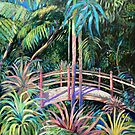 Japanese Bridge Tamborine Mountain Botanical Gardens by Virginia McGowan