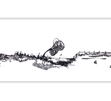 0019 - Brush and Ink - Old Farmstead Sticker
