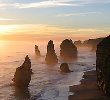Sunset Over Sea & Stone by Beamer