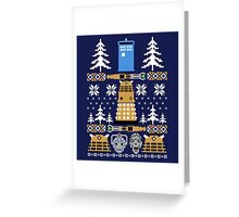 Doctor Who Ugly Sweater Greeting Card