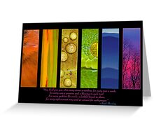 Natural Splendors I Greeting Card