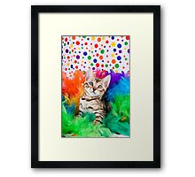 Party Bengal Kitten Framed Print