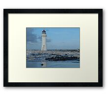First Waves of Winter Framed Print