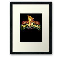 power rangers Framed Print