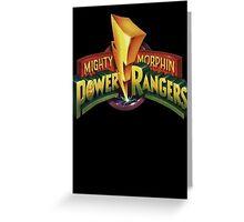power rangers Greeting Card