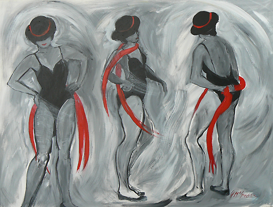 Dancing with the Red Scarves by Virginia McGowan