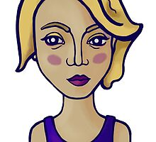 Blonde girl by Ekaterina Kalmykova