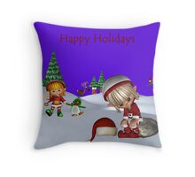 Lila finds Lily Throw Pillow