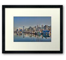 Stanley Park Boats Framed Print
