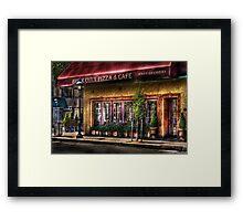 Brick Oven Cafe Framed Print