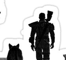 Fallout Wasteland Design Plain Sticker