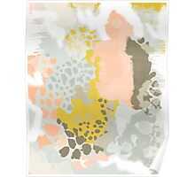 Upton - Modern abstract painting in bright and colors that pop but soothe Poster