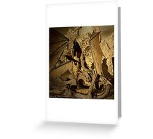 Fighting Amongst Dragons Greeting Card
