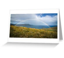 Rainbow over Lighthouse Bay, Bruny Island Greeting Card