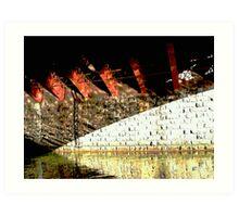 "under the bridge # 2 - "" six girders "" Art Print"