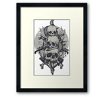 3 Skulls Framed Print