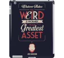 Whatever Makes You Weird iPad Case/Skin