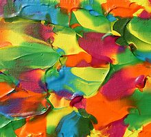"""Psychotropical"" original abstract artwork by Laura Tozer by Laura Tozer"