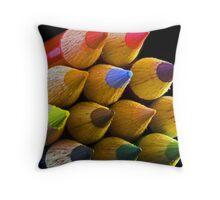 Coloured Tips Throw Pillow