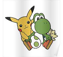 Yoshi, Pikachu and Togepi Poster