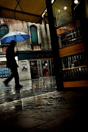 Rainy Day In Venice by Chris Fawkes