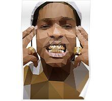 Low Poly ASAP Rocky Poster