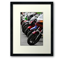 Row of motorcycles Framed Print