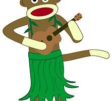Sock Monkey Ukulele by pounddesigns