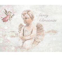 "The Littlest Angel ""Merry Christmas"" ~ Greeting Card Photographic Print"