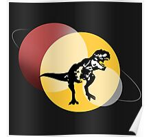 Space T-rex Poster